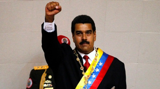 """Venezuelan President Nicholas Maduro vowed to resist U.S.-imposed sanctions, saying of the U.S. Congress, """"They can shove their US visas where should be shoved, insolent Yankees!"""""""